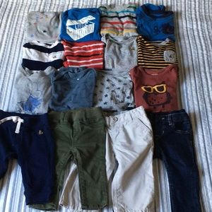 GAP Boys Pants & Bodysuit Bundle 16 Piece 6-12 mos